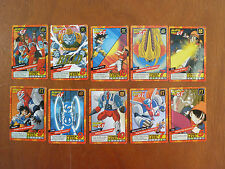 Lotto di 10 cartoline dragon ball GT power level carddass