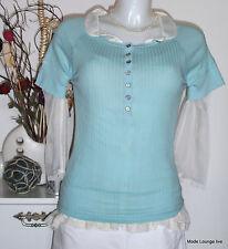 NOA NOA - baic RIB camiseta blusa - TALLA XS / 34 - Horizon Azul azul - NUEVO