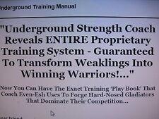 Ultimate Underground Training Manual-MMA Furey tsatsouline Combat Condition