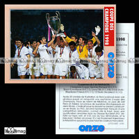 REAL MADRID COUPE DES CHAMPIONS 1998 (ex-Ligue League) - Fiche Football 1998
