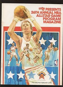 Feb 3 1976 NBA Basketball All Star Game Program EXMT