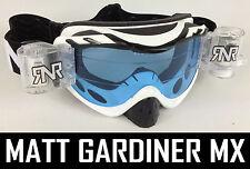 RIP N ROLL MOTOCROSS ENDURO MX lunettes de protection hybride RnR Limité BLANC