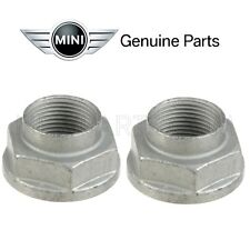 For Mini Cooper R50 R55 R57 R58 R59 R60 Pair Set of 2 Front Genuine Axle Nuts OE