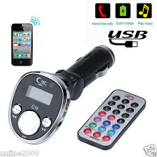 Wireless Car Kit Fm Transmitter Mp3 Player Radio Adapter Usb Charger Remote New