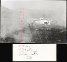 Vintage Photo Men & 1963 Ford Fire Truck in Smoke 687552