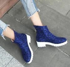 Fashion Women's Leopard Print Heel Pull On Platform Europe Shoes Plus Size New Y