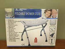 NEW Max+Care Foldable Shower Stool - Adjustable w/ Handles - New In Box