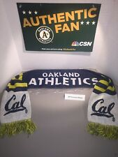 Oakland A's / Cal Berkeley Dual Sided Scarf Sga New Blue/White/Yellow