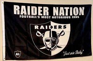 Oakland Raiders Flag 3X5ft RAIDER NATION BLACKHOLE Banner