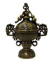 Chinese Oriental Fine Bronze Metal Incense Burner Display cs3073