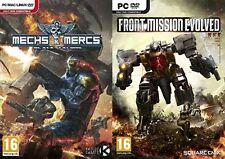 Mechas & los mercenarios Negro Garras & Front Mission Evolved Nuevo Y Sellado