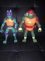 TMNT Teenage Mutant Ninja Turtles Large Viacom Playmates Donatello And Raphael
