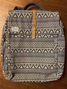Authentic Toms Aztec Navy Laptop Backpack Tote Bag