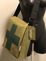 New FreeSet Messenger Bag Adjustable Fold Over Army Green Fabric Bag NWT