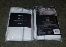Kenya Elephant European Pillow Sham In White