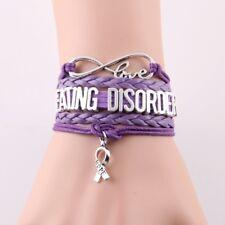 Lovely Friendship Eating Disorder Awareness  Infinity Bracelet. In Organza bag