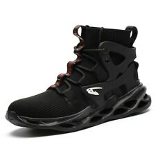Mens Work Safety Shoes Steel Toe Tactical Mid Ankle Hiking Walking Lace Up Boots