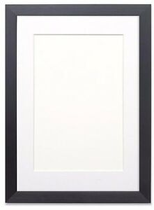 Black or White Photo Picture Frames with Quality Black , White or Ivory Mounts