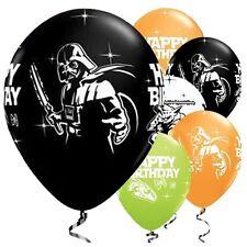 "Star Wars Happy Birthday 11"" Latex Balloons Yoda Vader Helium Quality Qualatex"