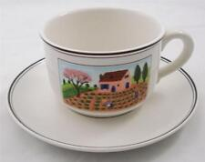 Villeroy & and Boch DESIGN NAIF LAPLAU breakfast cup & saucer UNUSED Jumbotasse