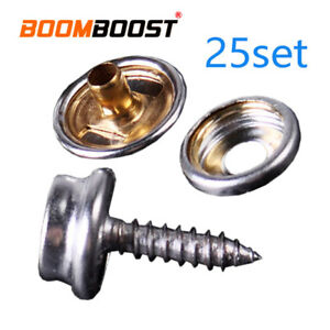 Canvas Tent CanopyBoat Marine Cover Snap Fastener Button ScrewStuds Socket 25set