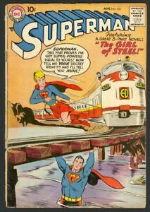 Superman #123 1st Supergirl Tryout - Superman Returns To Krypton - DC 1958 VG/FN