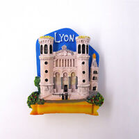 France Lyon Fridge Magnet 3D Refrigerator Sticker Tourist Souvenir Home Decor