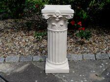 Sockel rund für Gartenfiguren Säule Steinguss Steinsäule Podest Gartendeko 55 cm