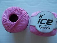Soft Pearl crochet thread/yarn, hot pink, 2 balls (110 yds each)
