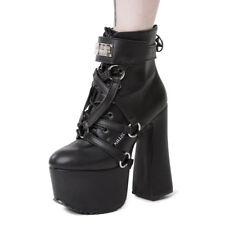 Killstar Goth Gothic Punk Schuh-Harness Stiefel Gespann - Diablo Deko Schnallen