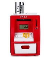 Idena 50021 Digitale Spardose Geldautomat mit Sound elektrische Spardose Rot NEU