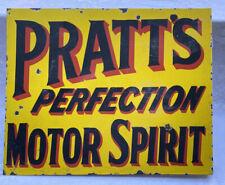 """PRATTS"" Enamel Flange Advertising Sign"