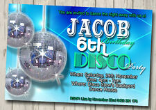 Boys Invitation Birthday DISCO Party Invite YOU PRINT Digital File Dance party
