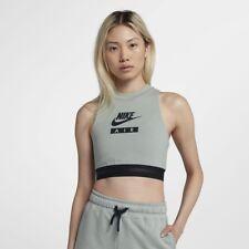 New Nike Women'S Sleeveless Sportswear Top Crop Nike Air Light Pumice Black L