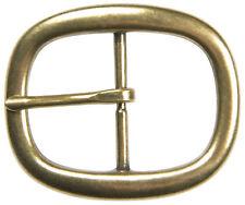 """Brass Oval Center Bar Buckle - Fits 1-1/2"""" Belts - The Belt Shoppe"""