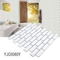 Tile Brick Wall Sticker Selfadhesive Waterproof Kitchen Bathroom Home Decor