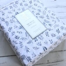 Rachel Ashwell Queen Sheet Set Shabby White Botanical Floral blue Cotton new