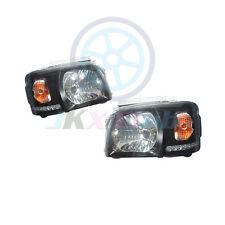 For Toyota Hiace 200 Van 2005-2010 Clear Lens Black Base LED DRL HeadLight Lamp
