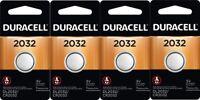 Duracell CR 2032 ECR2032 CR2032 DL 2032 3V Lithium Battery x 4