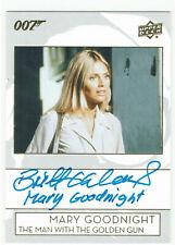 James Bond Collection Inscription Autograph Card A-EK Britt Ekland Mary Goodnigh
