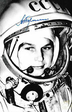 Valentina Tereshkova signed/autograph USSR Cosmonaut Rare COA LOOK!