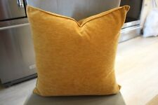 NWOT TWO Liquid Chenille Feather and Down GOLDEN ROD Throw Pillow GORGEOUS!