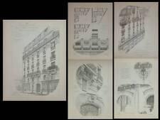PARIS, 170 RUE DE LA CONVENTION - PLANCHES ARCHITECTURE 1905 - LEGRIEL