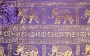 100% Thai Silk Tablecloth Elephant Design 150x200cm Many Colours Available