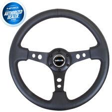 NEW NRG Deep Dish Steering Wheel 350mm Black Leather Black Center RST-006BK