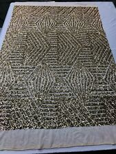 c805ddbdc4 Sequins Fabric Geometric Diamond Design 2 Way Stretch Sequins Gold By The  Yard
