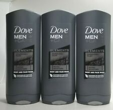 Pack of 3-Dove Men+Care CHARCOAL+CLAY Elements Body& face wash 400ml each