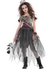 Childs Teen Girls Prombie Prom Queen Halloween Zombie Costume Horror Fancy Dress