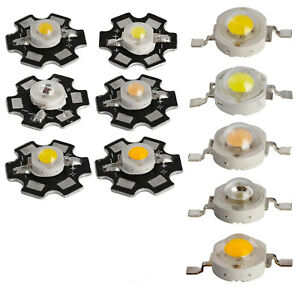 1W 3W High Power warm white/cool 3000k 4000k 6000k 10000K 25000K 30000K LED CHIP