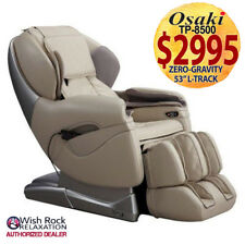 Osaki TP-8500 Space Saver Massage Chair w/ Foot Rollers & Heat (BEIGE)